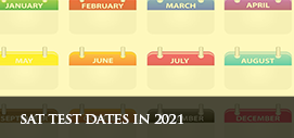 SAT Test Dates in 2021