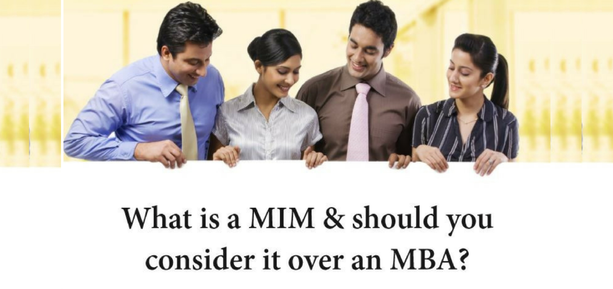 what is a mim should you consider it over an mba jamboree what is a mim should you consider it over an mba