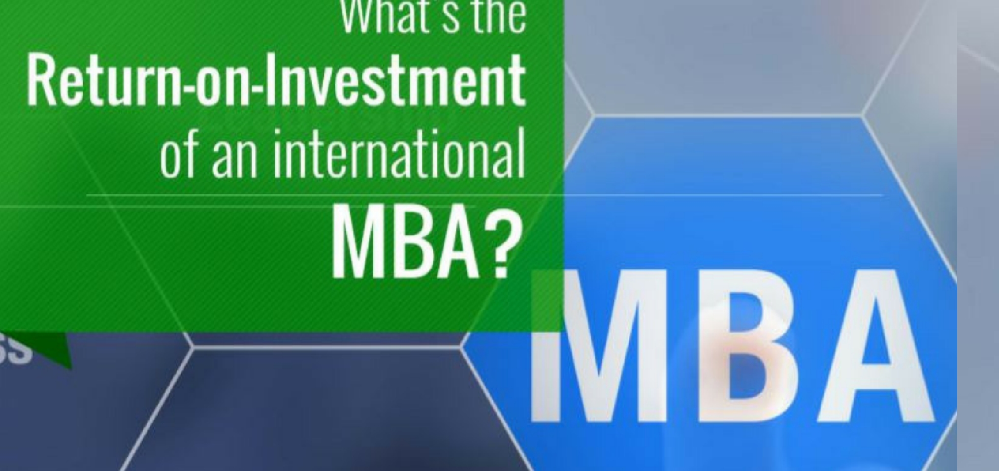 Return-On-Investment of an international MBA