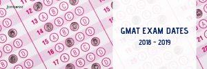 gmat dates 2018 19