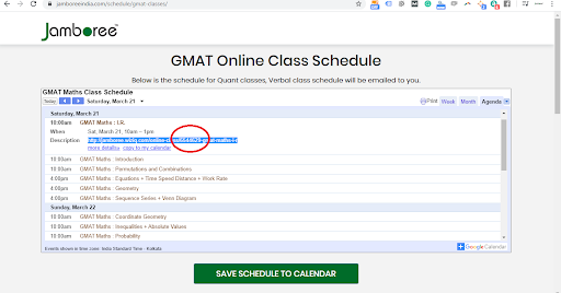 GMAT online screenshot