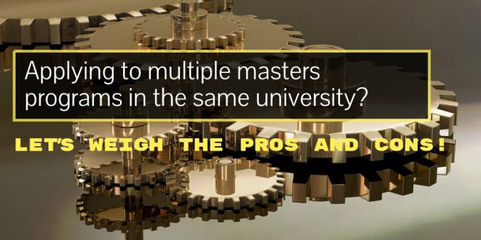 Applying to multiple masters programs in the same university